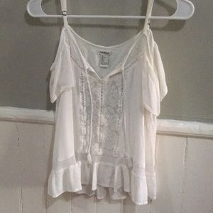 Off the shoulder White blouse Forever 21